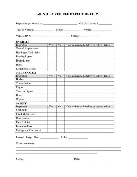 vehicle inspection checklist form parlo buenacocina co