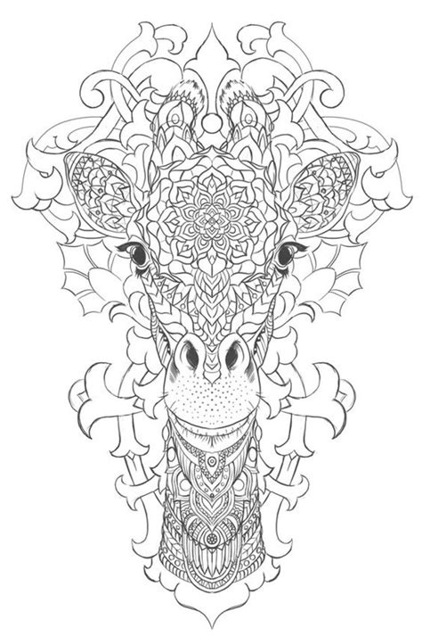 giraffe coloring page for adults giraffe on behance coloring pages pinterest