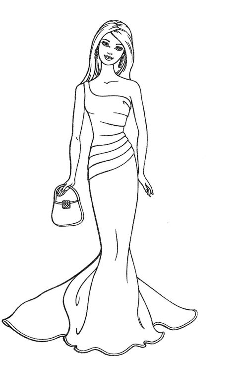 cute barbie coloring pages photos cute barbie doll sketch drawing art gallery
