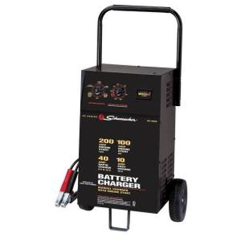 battery charger home depot schumacher 6 12 volt 40 automatic battery charger se