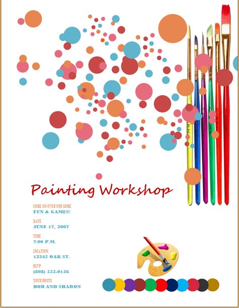 painting flyers templates free 50 ms word editable flyers templates word excel templates