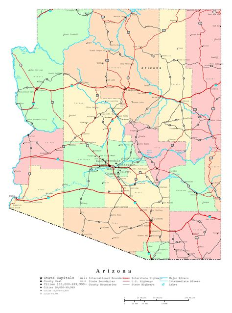 arizona map usa map of arizona pictures to pin on pinsdaddy