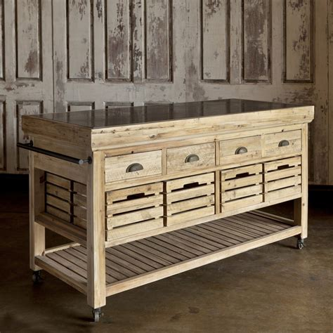 Moveable Kitchen Island the most stylish rustic kitchen island on wheels for home