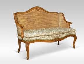 double settee louis xv style double caned bergere settee antiques atlas