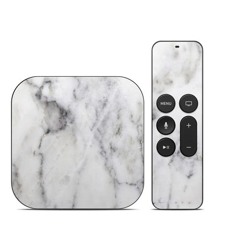 Skins For Customizing Your Apple Tv by Apple Tv 4th Skin White Marble By Marble Collection