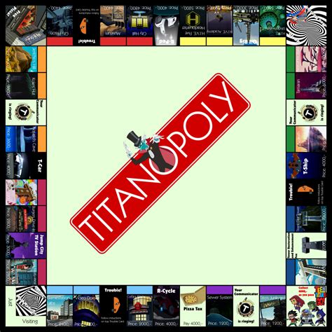 Promo Monopoly Attack On Titan Board monopoly version titanopoly by starfireg on deviantart