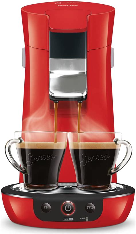 philips senseo viva cafe coffee pod machine hd red