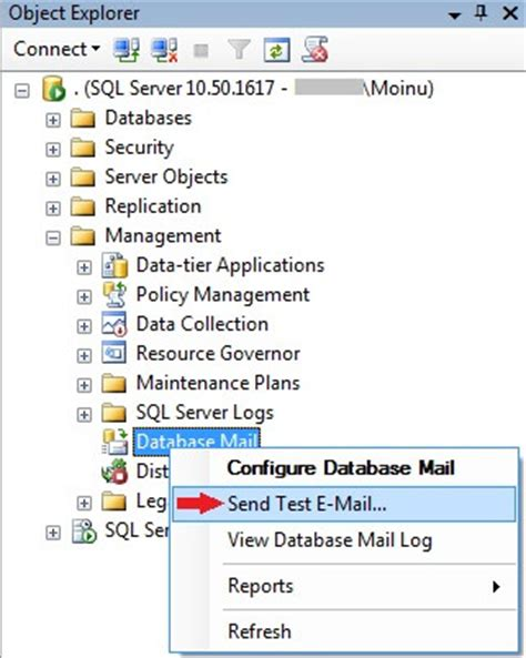 format email sql setup sql server database mail to use a gmail hotmail
