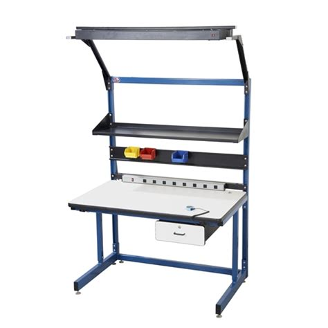 professional work bench pro line bib20 esd cantilever bench workstation