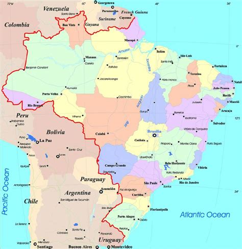 map of cities map of brazil with cities map brazil cities south
