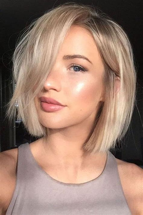 best 25 one length hair ideas on pinterest shoulder 2017 popular short length hairstyles for thick hair