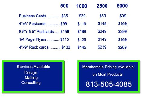 business card price list template business card with price list image collections card