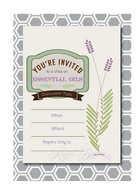 24 Best Doterra Invitations Images On Pinterest Doterra Essential Oils Essential Oils And Doterra Invite Template