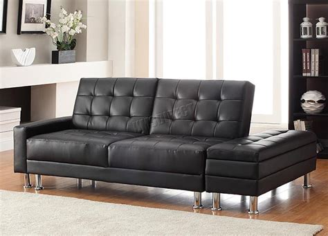 pu sofa bed foxhunter pu sofa bed with storage 3 seater guest sleeper