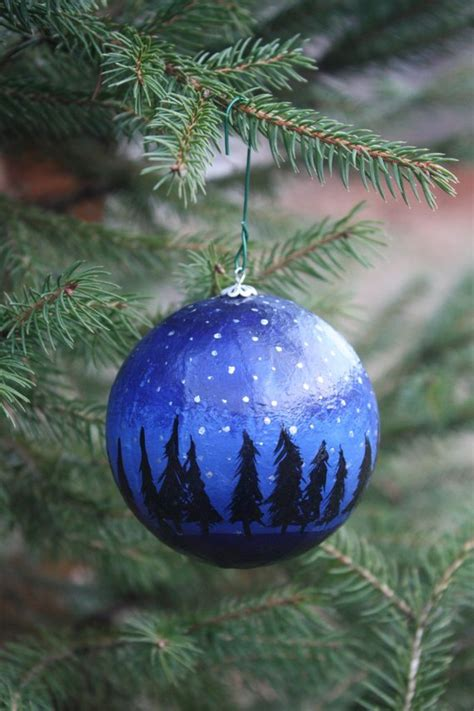 painted christmas balls painted ornament