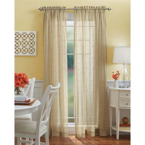 better homes and gardens lace tailored curtain panel