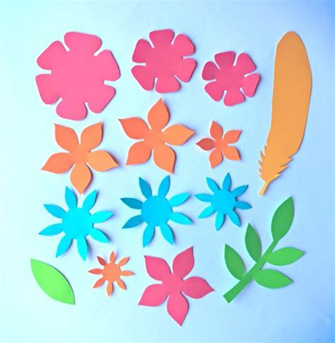 pattern for construction paper flowers paper flowers classroom craft activity easy make paper