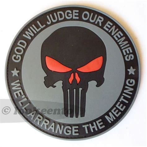 big us navy seals team 6 devgru punisher pvc rubber 3d velcro patch showing the sentence quot god