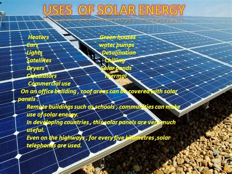 solar panels purpose physics energy flow and conservation of resources solar energy ppt