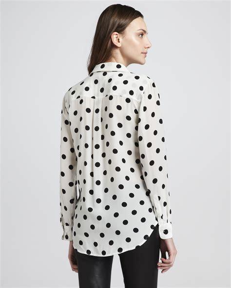 Blouse Polka equipment polka dot blouse collar blouses