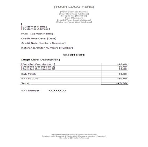 Letter Of Credit Template Uk Fundinvoice Exles Of Invoices And Credit Note Templates