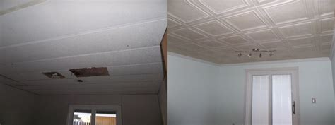 before and after photogallery at decorative ceiling tiles