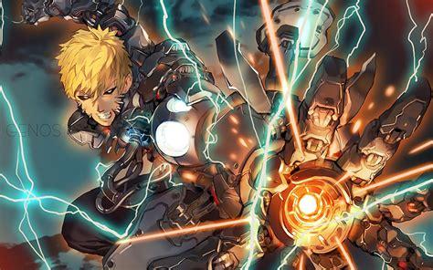 anime one punch man genos full hd papel de parede and planos de fundo