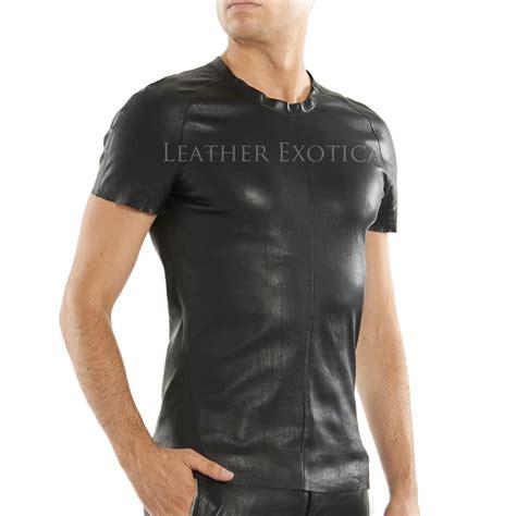 lamb leather  shirt  men leatherexotica