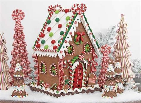 Gingerbread House Clay Dough Christmas Ornaments set of 2