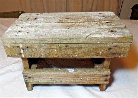 Shabby Chic Step Stool by Vintage Shabby Chic Foot Stool Ebay