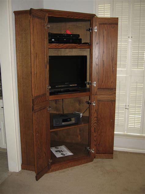 Hand Made Corner Tv Cabinet by John H. Ellzey Custom