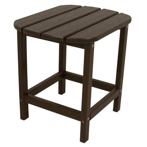 Outdoor Side Table Polywood South 18 In Mahogany Patio Side Table Sbt18ma The Home Depot