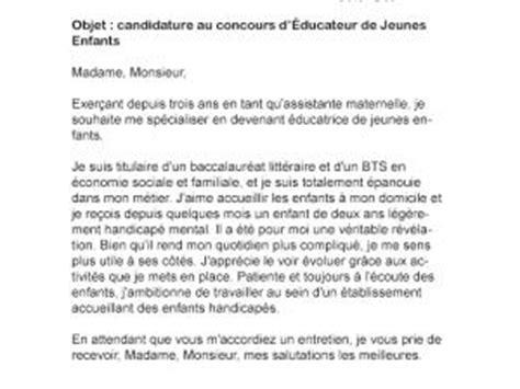 Lettre De Motivation Ecole Educateur Sp Cialis Lettre De Motivation Concours Eje Par Lettreutile