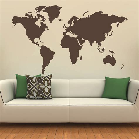 the world wall sticker map of the world silhouette wall decal globe wall decal wall