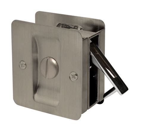 weiser 1031 antique nickel square privacy pocket door lock