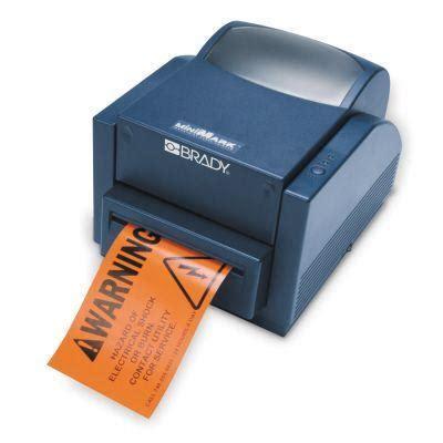 Brady Label Printer brady minimark industrial label printer from labelzone
