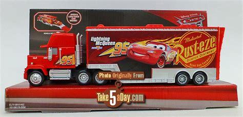 Disney Pixar Cars 3 Travel Time Mack Transporter Playset Dxy87 mattel disney pixar cars 3 new mack hauler bright shiny take five a day