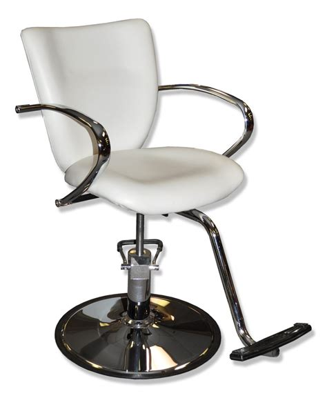 white styling chair with headrest white salon chairs canada chairs seating