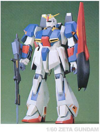 Figure Karakter Gundam Zeta Z 1 60 scale z gundam series msz 006 zeta gundam my anime shelf