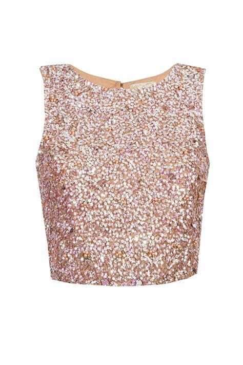 Home Design European Style lace amp beads picasso nude sequin top tops