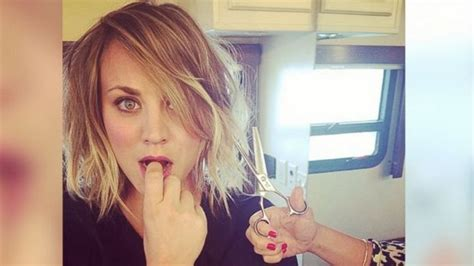 kelly cuoco sweeting new haircut kaley cuoco leaked icloud quotes