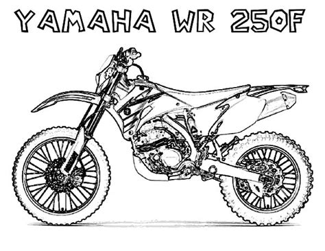 yamaha motorcycle coloring pages dirt bikes free coloring pages