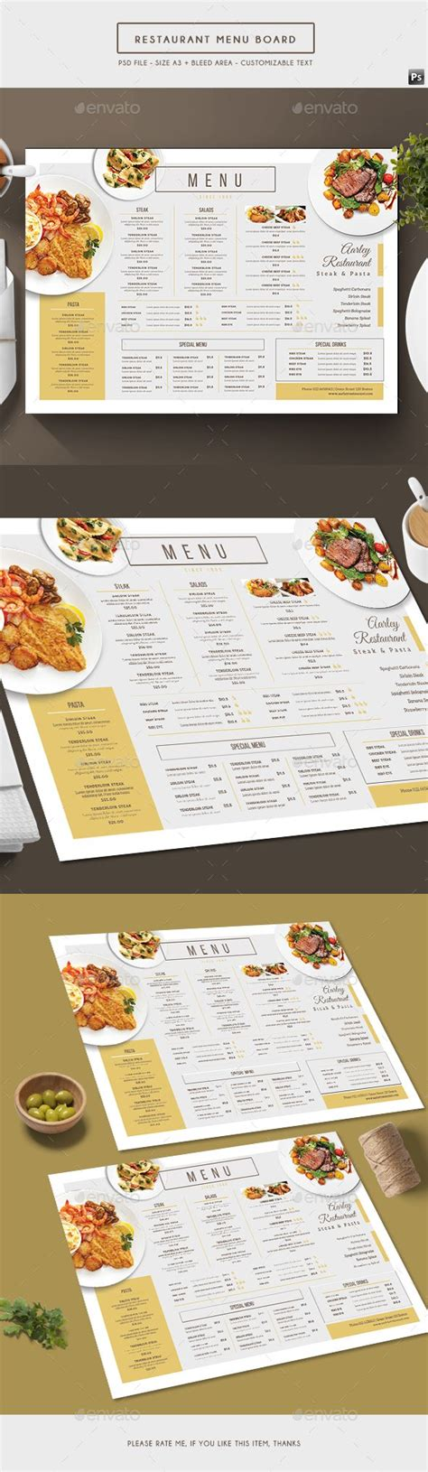 simple restaurant menu template best 23 cafe menu designs design