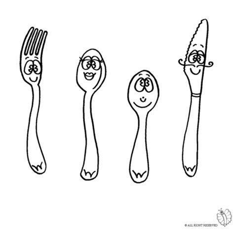 disegni di bicchieri disegno di posate da colorare per bambini