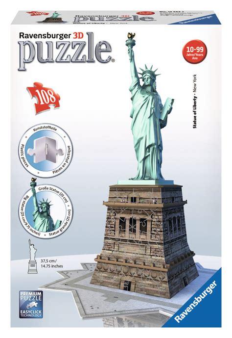 film vrijheidsbeeld emoji la statue de la libert 233 3d puzzle ravensburger 108 pi 232 ces
