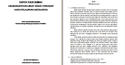 format makalah matematika contoh karya tulis ilmiah matematika membangkitkan minat