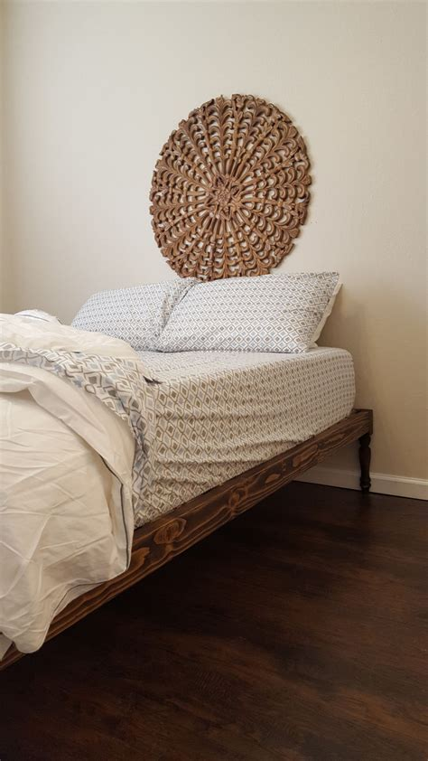 bohemian platform bed platform bed bohemian bed turned leg bed turned by