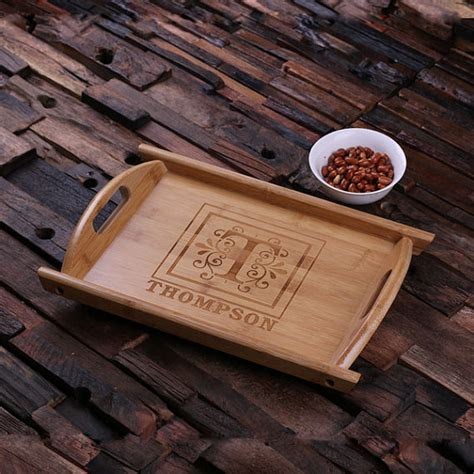 engraved serving tray personalized engraved wood serving tray house customized
