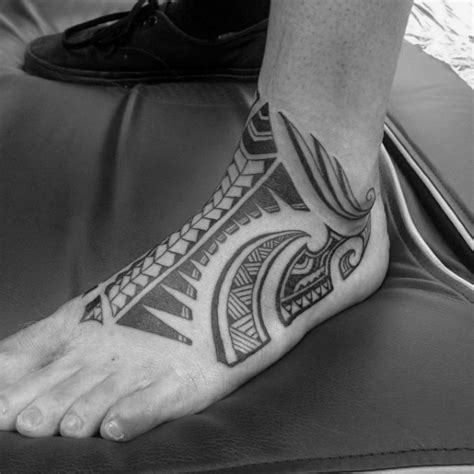 foot tattoos for guys 40 tribal foot tattoos for manly design ideas