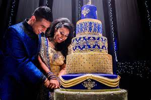 blue and gold asian wedding cake the showstopper sweet hollywood